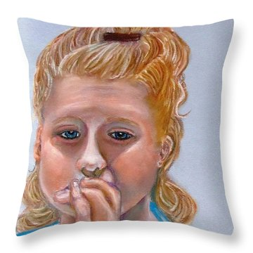 Broken Hearted Throw Pillow by Carol Allen Anfinsen