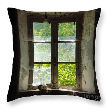 Broken Window. Throw Pillow by Bernard Jaubert