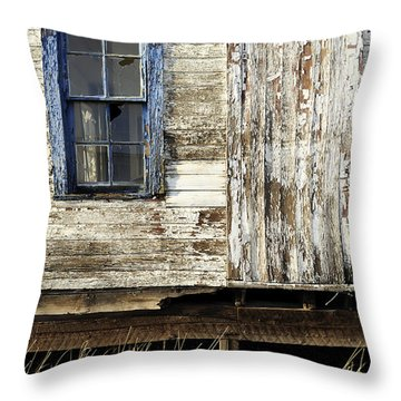 Throw Pillow featuring the photograph Broken Window by Fran Riley