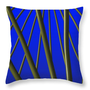 Bronze Sunlight Throw Pillow by Richard Rizzo