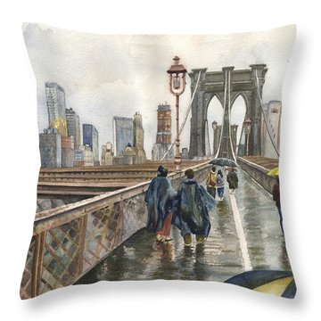 Raincoat Throw Pillows