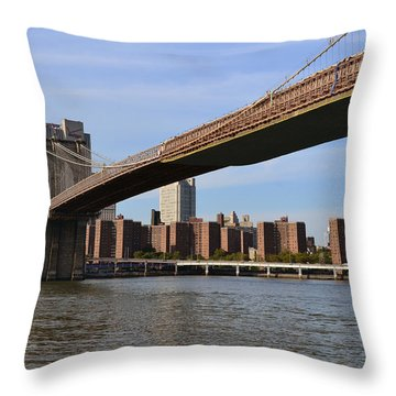 Brooklyn Bridge1 Throw Pillow by Zawhaus Photography