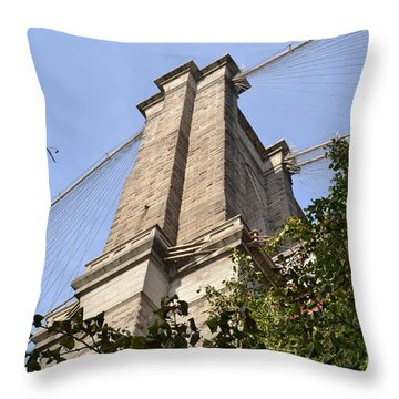 Brooklyn Bridge2 Throw Pillow by Zawhaus Photography