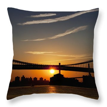 Brooklyn Sunrise Throw Pillow by Bill Cannon
