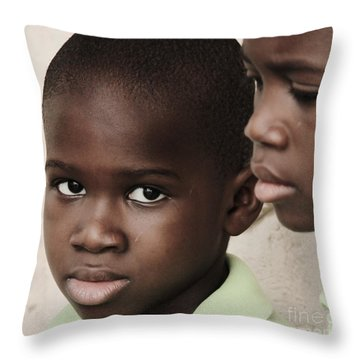 Brothers Throw Pillow by Rene Triay Photography