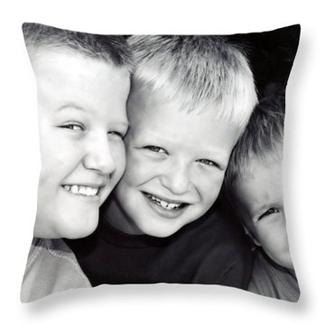 Brothers Three Throw Pillow