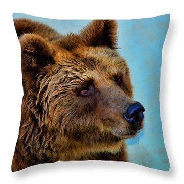 Brown Bear 203 Throw Pillow