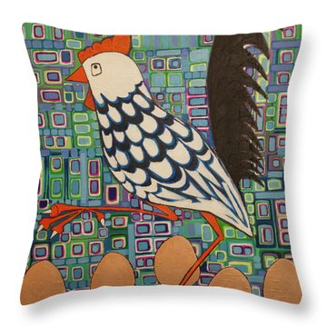 Brown Eggs Are Local Eggs And Local Eggs Have Wheels Throw Pillow
