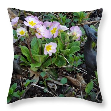 Throw Pillow featuring the photograph Browsing Deer by Gerald Strine