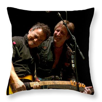 Bruce Springsteen And Danny Gochnour Throw Pillow