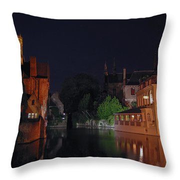 Throw Pillow featuring the photograph Bruges by David Gleeson