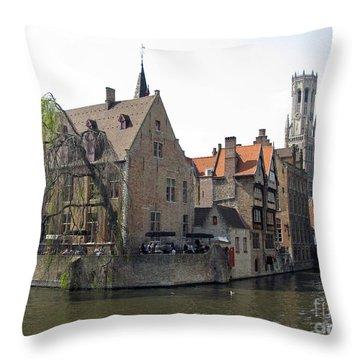 Brugge. Belgium. Spring 2011 Throw Pillow by Ausra Huntington nee Paulauskaite