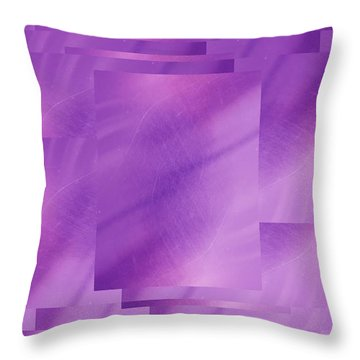 Brushed Purple Violet 7 Throw Pillow by Tim Allen