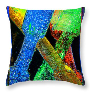 Brushes Throw Pillow by Mauro Celotti