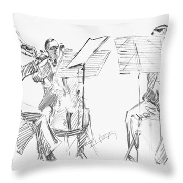 Brussels String Trio Throw Pillow by Granger