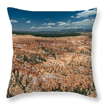 Bryce Canyon Panaramic Throw Pillow by Larry Carr