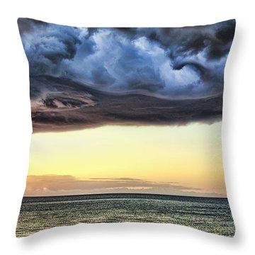 Bubble Cloud V2 Throw Pillow by Douglas Barnard