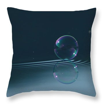 Bubble Ripples Throw Pillow