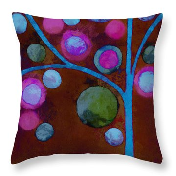 Bubble Tree - W02d - Left Throw Pillow by Variance Collections