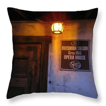 Buckhorn Saloon And Opera House Throw Pillow by FeVa  Fotos