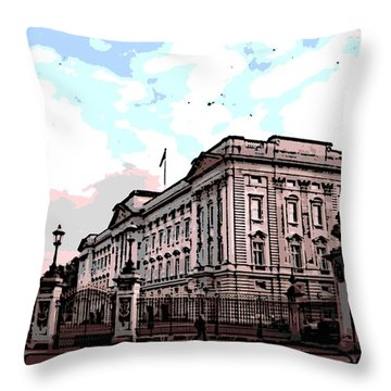Buckingham Palace Throw Pillow by George Pedro