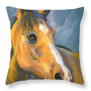 Buckskin Sport Horse Throw Pillow