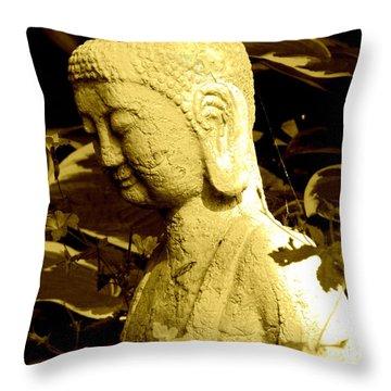 Buddha  Throw Pillow by France Laliberte