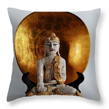 Throw Pillow featuring the photograph Buddha Girl by Gary Dean Mercer Clark