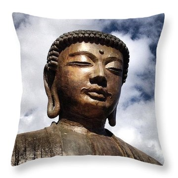 Buddha In The Sky Throw Pillow by Darice Machel McGuire