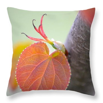 Budding Heart Throw Pillow