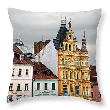 Budweis - Pearl Of Bohemia - Czech Republic Throw Pillow by Christine Till