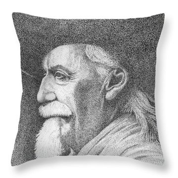 Buffalo Bill Cody Throw Pillow by Lawrence Tripoli