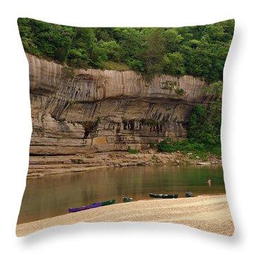 Buffalo Bluffs 1 Throw Pillow by Marty Koch