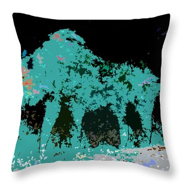 Buffalo Hump Throw Pillow by David Lee Thompson