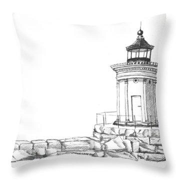 Bug Light Sketch Throw Pillow