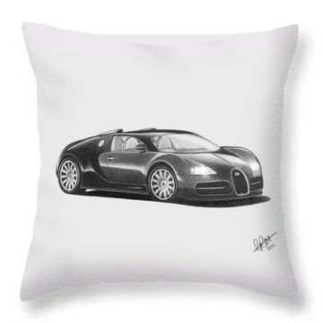 Bugatti Veyron Eb Throw Pillow