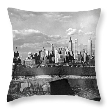 Buglers On Governors Island Throw Pillow
