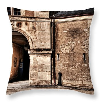 Building In France Throw Pillow by Charuhas Images