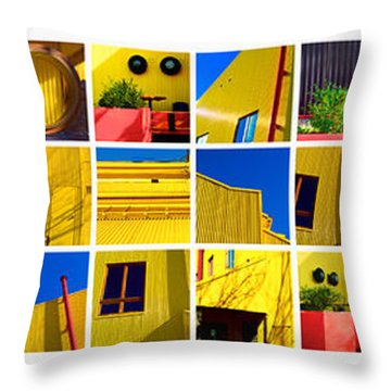 Building Mosaic  Throw Pillow by Mauro Celotti