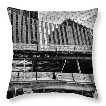 Building The American Dream Throw Pillow by John Farnan