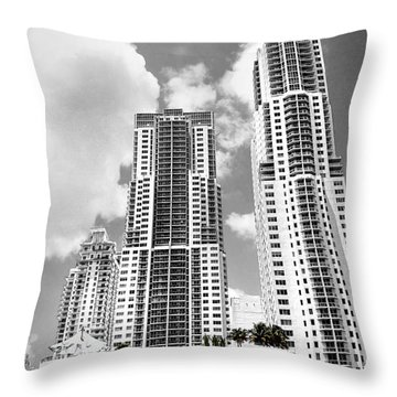 Buildings Downtown Miami Throw Pillow