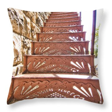 Built By The Rogers Fence Co Throw Pillow by Douglas Barnard
