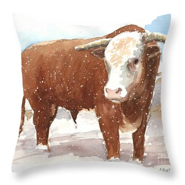 Bull Market Throw Pillow