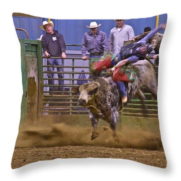 Bull Rider 1 Throw Pillow by Sean Griffin