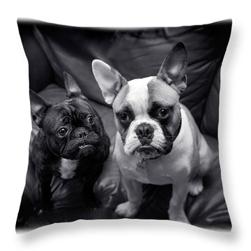 Bulldog Buddies Throw Pillow