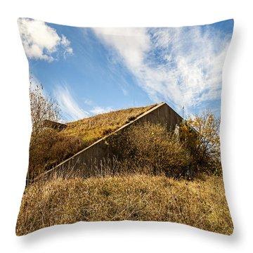 Bunker Down Throw Pillow by CJ Schmit