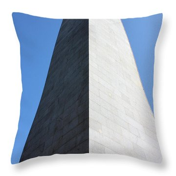 Bunker Hill Monument Throw Pillow by Kristin Elmquist