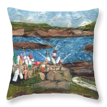 Buoy Collection Throw Pillow by Lynn Babineau