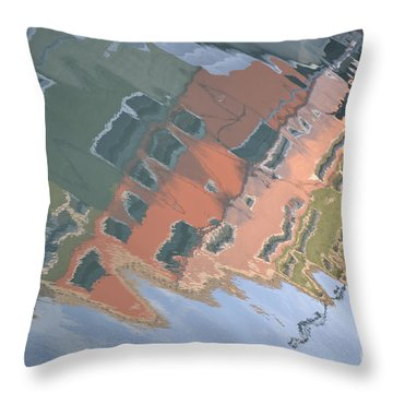 Throw Pillow featuring the photograph Burano House Reflections by Rebecca Margraf