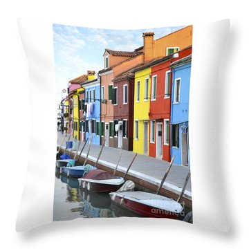 Throw Pillow featuring the photograph Burano Italy 2 by Rebecca Margraf